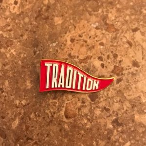 New Red, White and Gold Tradition Lapel Pin.